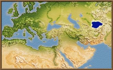 Baktria mapa