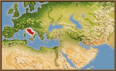 Romani mapa